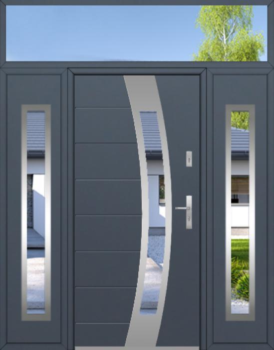 configuración personalizada - Puerta Fargo con dos paneles laterales y luz lateral superior