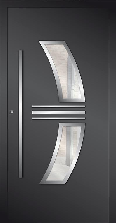 LIM AP15 - puerta de entrada de vidrio y aluminio