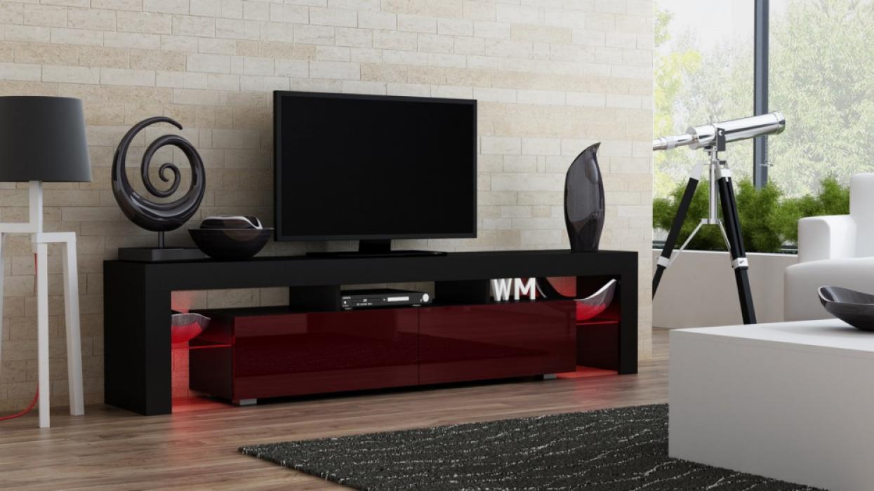 Milano 200 - negro soporte tv