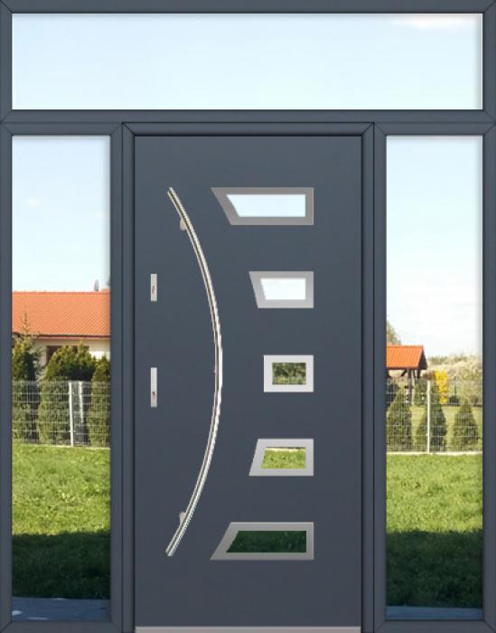 configuración personalizada - Puerta Fargo con luces laterales izquierda, derecha y superior