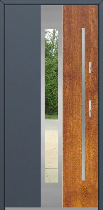 Fargo 30 DUO - puerta de entrada exterior de dos colores