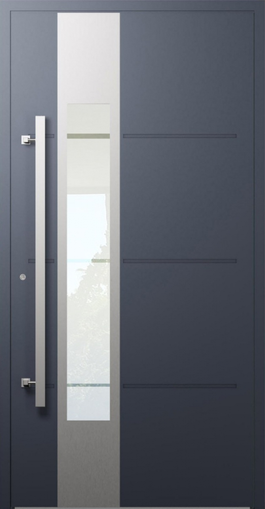 LIM W321- puerta de entrada de aluminio moderna