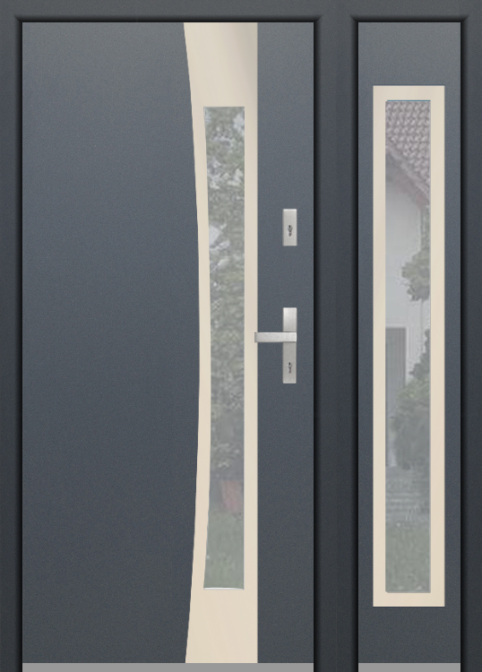 configuración personalizada - Puerta Fargo sin panel lateral derecho abierto (vista desde el exterior)