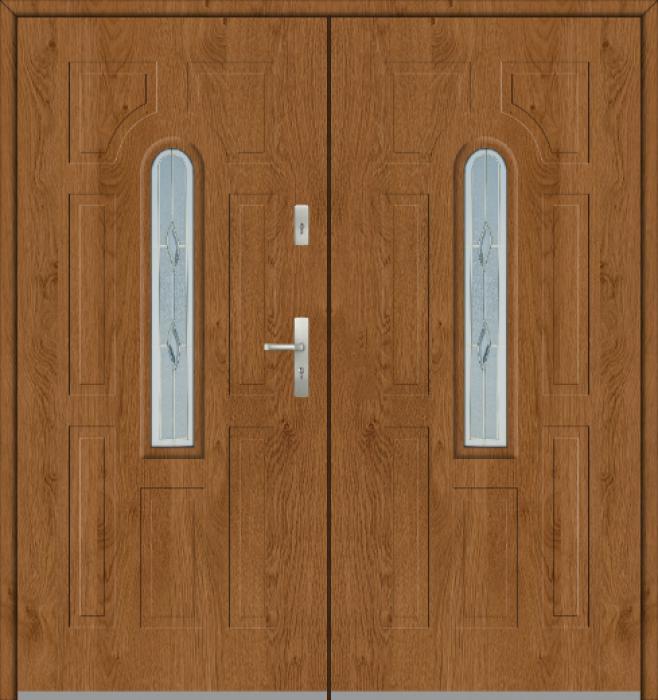 Fargo 5 double - puerta exterior doble de acero macizo / puerta francesa