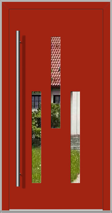 LIM TURMA - puerta de entrada de aluminio moderna