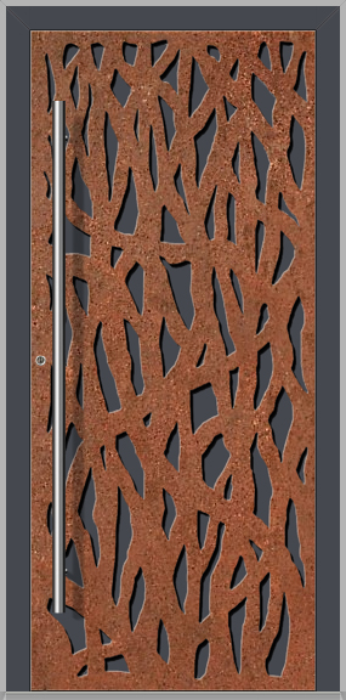 LIM Corrode  - puerta de entrada de aluminio moderna