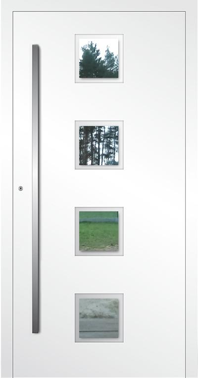 LIM AP08- puerta de entrada de vidrio y aluminio