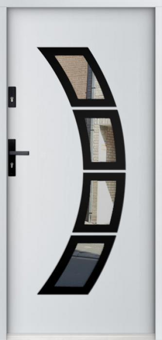 Sta Taurus noir - puerta aluminio exterior
