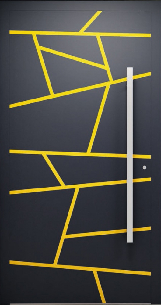 LIM W360 - puerta de entrada de aluminio moderna