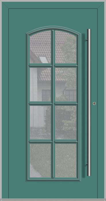 RAPSODIA-T - puerta de entrada clásica de aluminio con vidrio