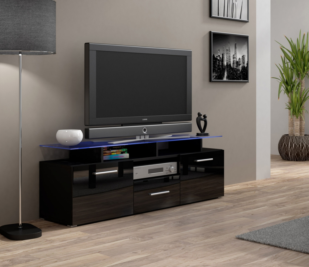 Enea mini black 42 inch tv stand - mueble de tv