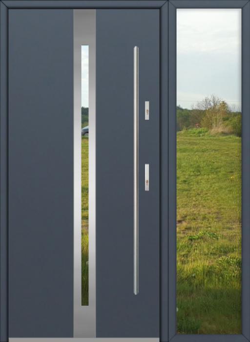 configuración personalizada - Puerta Fargo con luz lateral derecha (vista desde el exterior)