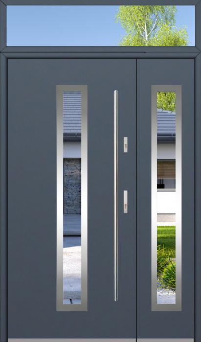 configuración personalizada - Puerta Fargo con panel y luz laterales superior