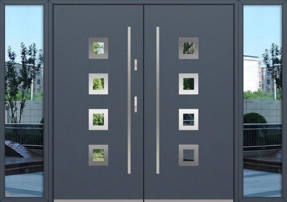 configuración personalizada - Puerta doble Fargo con luces laterales izquierda y derecha