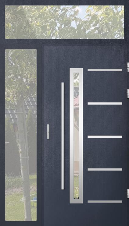 configuración personalizada - Puerta STA con luz lateral izquierda y superior (vista desde el exterior)