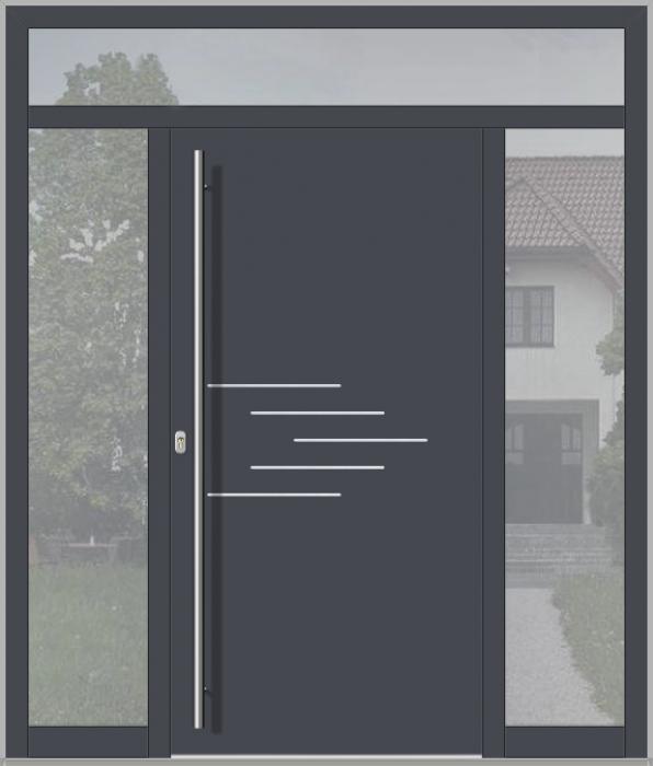 Puerta LIM con luz lateral izquierda, derecha y superio (vista desde el exterior)
