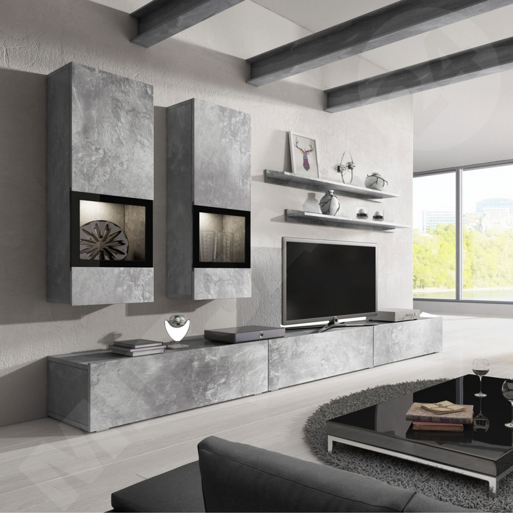 Wall unit Baros 2 Grey - muebles baratos online