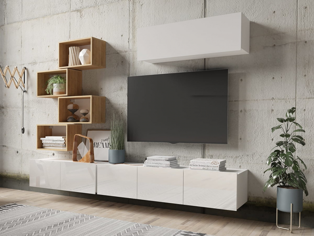 Cela 29 - mueble de tv moderno brillante
