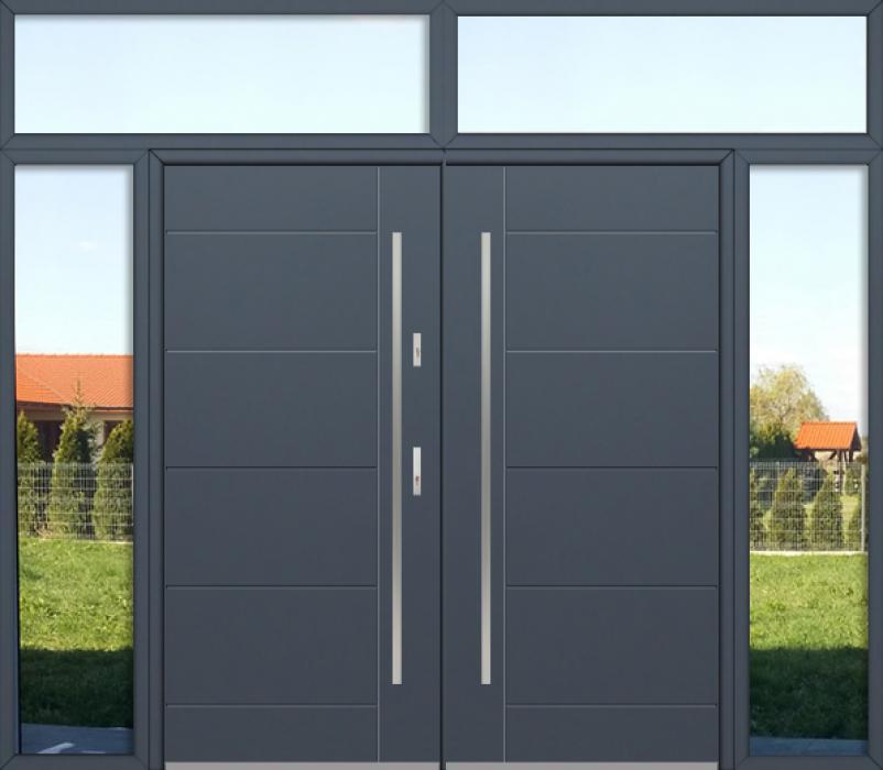 configuración personalizada - Puerta doble Fargo con luces laterales izquierda, derecha y superior