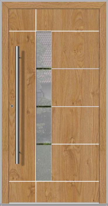 LIM Bandera - puerta de entrada de aluminio contemporánea