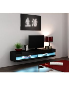 Seattle 33 black media stand - mesa para TV
