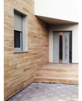 Color: roble albar; Tipo de vidrio: sand