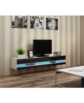 Seattle 32 white entertainment stands - mueble de tv