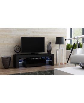 Milano 130 black TV stand - mueble de tv